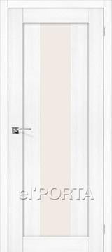 Дверь el'Porta Порта X 25 alu Snow Veralinga экошпон