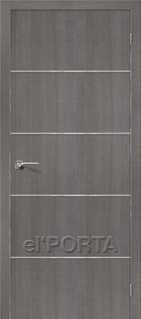Дверь el'Porta Порта Z 50А-6 Grey Crosscut экошпон