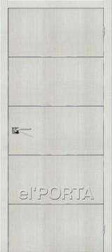 Дверь el'Porta Порта Z 50А-6 Bianco Crosscut экошпон
