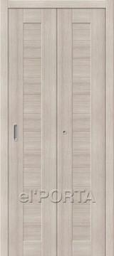 Дверь el'Porta складная Porta X 21 Cappuccino Veralinga экошпон
