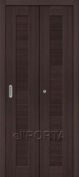 Дверь el'Porta складная Porta X 21 Wenge Veralinga экошпон