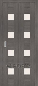 Дверь el'Porta складная Porta X 23 Grey Veralinga экошпон