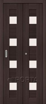Дверь el'Porta складная Porta X 23 Wenge Veralinga экошпон