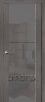 Дверь el'Porta Vetro V4 S Grey Veralinga экошпон