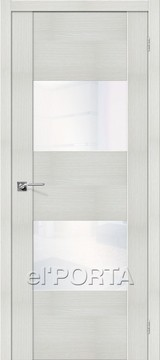 Дверь el'Porta Vetro VG2 WW Bianco Veralinga экошпон