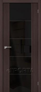 Дверь el'Porta Vetro V4 BS Wenge Veralinga экошпон