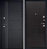 Дверь Дверной континент Термаль Графит  Белёный дуб