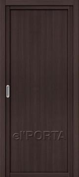 Дверь el'Porta Twiggy (раздвижная) M1 Wenge Veralingа экошпон
