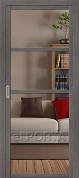 Дверь el'Porta Twiggy (раздвижная) V4 C Grey Veralinga экошпон