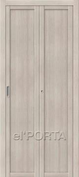 Дверь el'Porta складная Twiggi M1 Cappuccino Veralinga экошпон