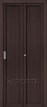 Дверь el'Porta складная Twiggi M1 Wenge Veralinga экошпон