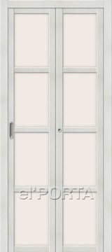 Дверь el'Porta складная Twiggi V4 Magic Fog Bianco Veralinga экошпон