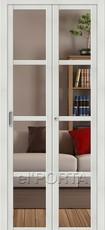Дверь el'Porta складная Twiggi V4 Crystalline Bianco Veralinga экошпон