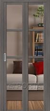 Дверь el'Porta складная Twiggi V4 Crystalline Grey Veralinga экошпон