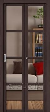 Дверь el'Porta складная Twiggi V4 Crystalline Wenge Veralinga экошпон