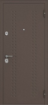 Дверь Бульдорс 24 Античная медь R-2 Дуб крем F-3