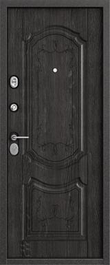 Дверь Бульдорс 24 Черный шелк  Дуб мореный F-1