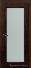 Дверь Краснодеревщик 80 04 с фурнитурой, Дуб мореный натуральный шпон