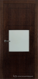 Дверь Краснодеревщик 80 08 Дуб мореный натуральный шпон