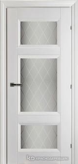 Дверь Краснодеревщик К3 46Ф с фурнитурой, Белый CPL