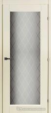 Дверь Краснодеревщик 63 40 с фурнитурой, Слоновая кость CPL