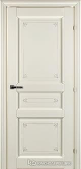 Дверь Краснодеревщик 63 33 с фурнитурой, Слоновая кость с печатью CPL