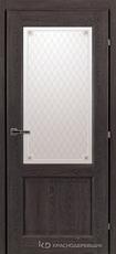 Дверь Краснодеревщик 63 24 с фурнитурой, Дуб шварц CPL