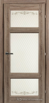 Дверь Краснодеревщик 63 42 с фурнитурой, Сонома ламинат
