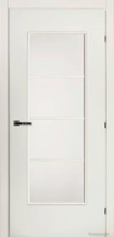 Дверь Краснодеревщик 50 40 (матовое стекло) с фурнитурой, Белый CPL