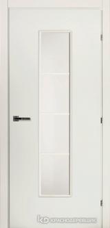 Дверь Краснодеревщик 50 66М (стекло сатин) с фурнитурой, Белый CPL