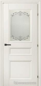 Дверь Краснодеревщик 33 42Ф (стекло Денор) с фурнитурой, Белый CPL