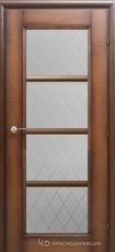 Дверь Краснодеревщик 33 40 (стекло Кристалл) с фурнитурой, Кофе натуральный шпон