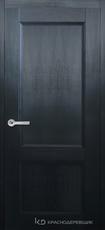 Дверь Краснодеревщик 33 23 с фурнитурой, Эмаль черная натуральный шпон