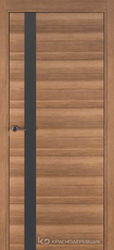Дверь Краснодеревщик 7 01 (стекло Мателак сильвер) с фурнитурой, Дуб чайный sincrolam