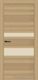 Дверь Краснодеревщик 7 03 (стекло Лакобель жемчужно-белый) с фурнитурой, Дуб натуральный sincrolam