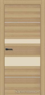 Дверь Краснодеревщик 7 03М (молдинг, стекло Лакобель жемчужно-белый) с фурнитурой, Дуб натуральный sincrolam