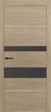 Дверь Краснодеревщик 7 03М (молдинг, стекло Сильвер) с фурнитурой, Серо-зеленый sincrolam