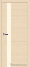 Дверь Краснодеревщик 7 01 (стекло Лакобель жемчужно-белый) с фурнитурой, Дуб выбеленный sincrolam