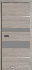 Дверь Краснодеревщик 7 03М (молдинг, стекло Мателак сильвер) с фурнитурой, Дуб пепельный sincrolam