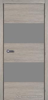 Дверь Краснодеревщик 7 05 (стекло Мателак сильвер) с фурнитурой, Дуб пепельный sincrolam