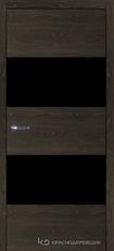 Дверь Краснодеревщик 7 05 (стекло Мателак сильвер) с фурнитурой, Дуб Шварц sincrolam