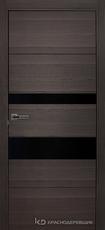 Дверь Краснодеревщик 7 03 (стекло черное) с фурнитурой, Нордик sincrolam