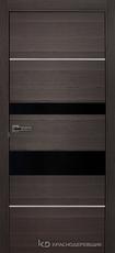 Дверь Краснодеревщик 7 03М (молдинг, стекло черное) с фурнитурой, Нордик sincrolam