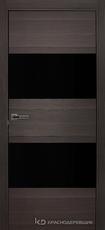 Дверь Краснодеревщик 7 05 (стекло черное) с фурнитурой, Нордик sincrolam