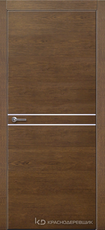 Дверь Краснодеревщик 706 (молдинг) с фурнитурой, натуральный шпон Дуб кофе