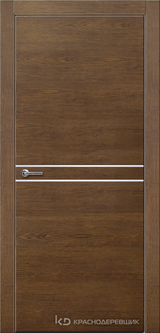Дверь Краснодеревщик 7 06 (молдинг) с фурнитурой, Дуб кофе натуральный шпон
