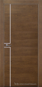 Дверь Краснодеревщик 7 07 (молдинг) с фурнитурой, Дуб кофе натуральный шпон
