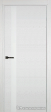 Дверь Краснодеревщик 701 (стекло белое) с фурнитурой, натуральный шпон Эмаль белая