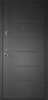 Дверь Дверной континент Сити-С Мокрый асфальт  Беленный дуб