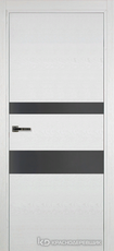 Дверь Краснодеревщик 703 (стекло серое) с фурнитурой, натуральный шпон Эмаль белая